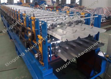 Dual Level / Double Deck Mesin Roll Forming, Wall Panel Mesin Roll Forming